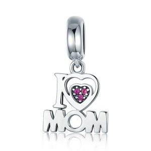 MyCharm I Love Mom 925 Ezüst Charm & Medál