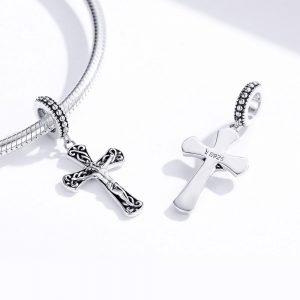 MyCharm Jézus Kereszt 925 Ezüst Charm & Medál nyakláncra
