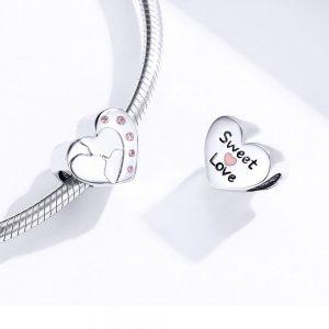MyCharm Szerelmes Csók 925 Ezüst Charm & Medál