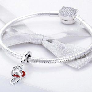 MyCharm Összefonódott Szívek 925 Ezüst Charm & Medál