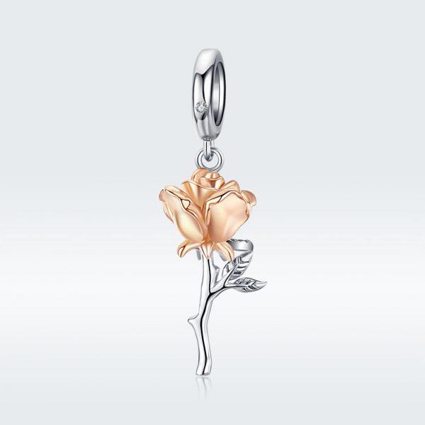 MyCharm Ragyogó Rózsa 925 Ezüst Charm & Medál