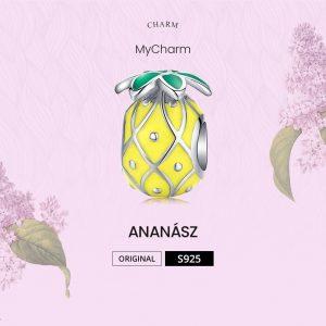 MyCharm Ananász Gyümölcsvarázs 925 Ezüst Charm