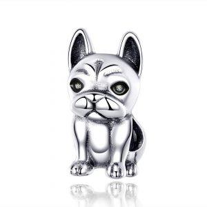 MyCharm Bulldog 925 Ezüst Charm