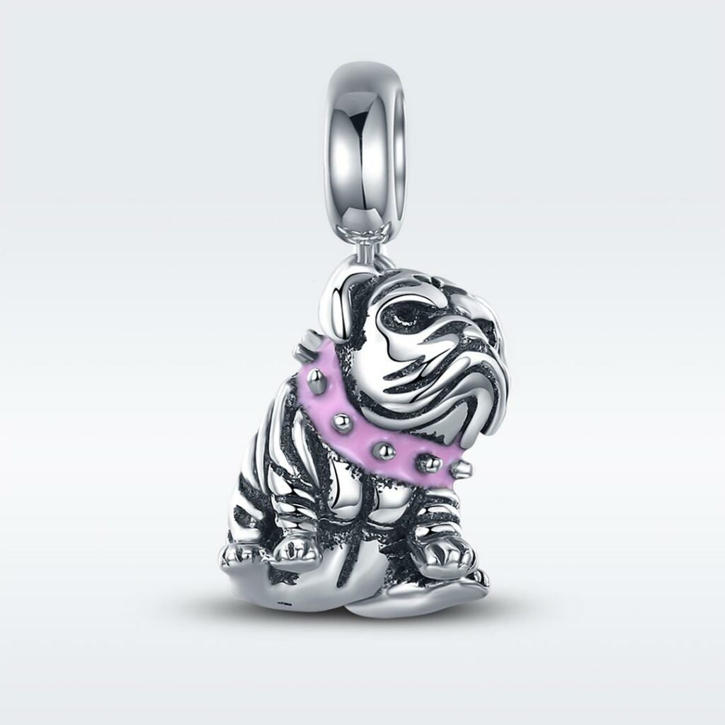 MyCharm Angol Bulldog 925 Ezüst Charm & Medál